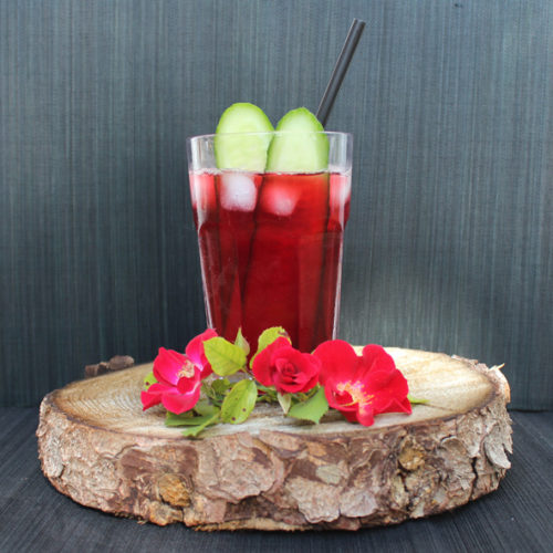 Rote Gurke Cocktail