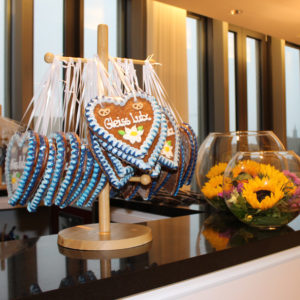 Eventdesign - Dekoration Oktoberfest (Wiesn-Herz als Give-Away)